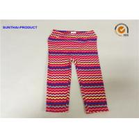 China No Side Seam Cute Baby Girl Leggings 95% Cotton 5% Spandex Jersey With Sea Waves Printed wholesale