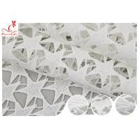 China SGS Width 120cm Embroidered Floral Lace Fabric For Dress Making wholesale