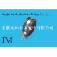 China Fixing Pipe Gas Hose Stainless Steel Pipe Hangers And Clamps EPDM Rubber Coated P Type on sale