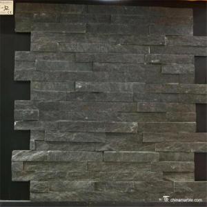 China Chinamarble , Black Slate Stone Wall Cladding,6×24 (150×600mm),6×22 (150×550mm) on sale