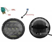 """Quality 75W 7"""" DRL Fog JK Jeep Wrangler Headlights With High / Low H4 Or H13 for sale"""