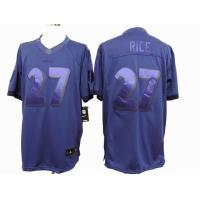 China nike nfl Baltimore Ravens 27 Rice purple drenched jersey wholesale