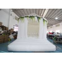 China 5M Inflatable Commercial White Jumping Bounce House For Rental wholesale