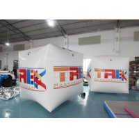 China Square Inflatable Swim Buoy 2x2x2m Cube Floating Inflatable Marker Buoy Water Sports Pontoon wholesale