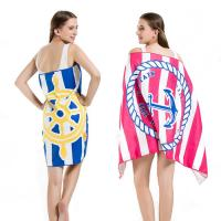 China Promotional Personalized Beach Towels Anchored Image Absorbent Quick Drying wholesale
