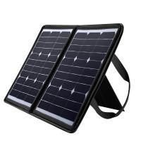 China Laptop solar powered usb charger , 50W Solar Panel Mobile Charger 18 Volt wholesale