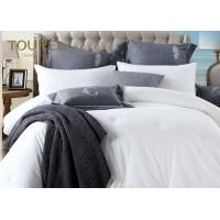 China White Hotel Bed Linen 60S 40s Cotton Yarn Oxford Style With Customer'S Name Label wholesale