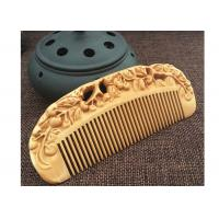 China Anti static Creative Wooden Crafted Gifts Double sided Carved wooded Comb wholesale
