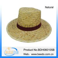China New products 2015 natural straw hats for children sun hats wholesale
