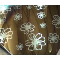 China Colored Ti-Coating Art Etching Finish Stainless Steel Sheet For Building Decoration on sale
