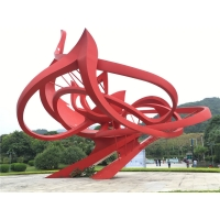 China Landscape Large Outdoor Metal Sculpture Abstract Contemporary Garden Statues wholesale