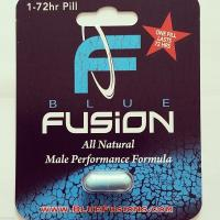 China Blue Fusion Bliser Card Packaging for Male Tablets , Aqueous Coating wholesale