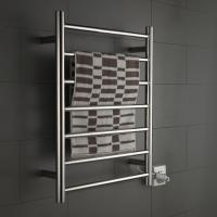 Quality 7 Bars Round stainless steel wall mounted pratical elegant safety heated towel for sale