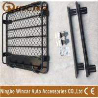 China Universal Car Roof Storage Black Color , Duel Cab Mounts Roof Luggage Rack wholesale