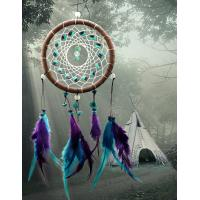 China Antique Imitation Dreamcatcher Gift checking Dream Catcher Net With natural stone Feathers Wall Hanging Decoration Ornam wholesale