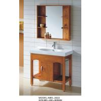 China 85 X 45 X 85 / cm Square Sinks Bathroom Vanities wooden ceramic basin wholesale