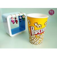 China 46oz Top120mm Disposable Paper Popcorn Buckets 1275ml Volume BRC FDA wholesale