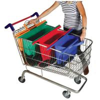 China Reusable Trolley Shopping Bag, Grocery Trolley Bag For UK,Hot Sale Colorful 4pcs Supermark on sale