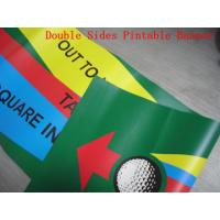 China Custom Made Reinforced Pvc Vinyl Banners Double Sided 1440 Dpi Printing wholesale