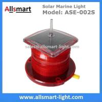 China 15LED Red Flash Solar Marine Beacon Offshore Lights With Spike Drive Bird Needle Ship Signal Lamp Ocean Sea Solar Light wholesale