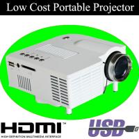 China White Black Color LED Lamp Mini Projector HDMI With Retail Package For Kids Birthday Gift wholesale