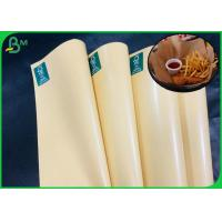 China 100% Safe And Degradable Brown Kraft Paper With PE Coated For Paper Bags on sale
