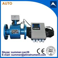 China PTFE Liner electromagnetic flow meter with remote control 4-20mA output wholesale