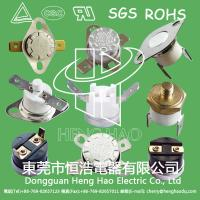 China Normally Closed / Open KSD301 Bimetal Thermostat Snap Action Type RoHS Certified on sale