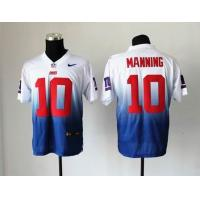 China NFL New York Giants 10 Manning Drift Fashion II white blue jersey wholesale