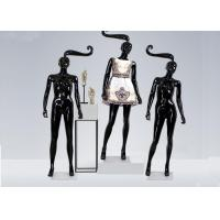 China Glossy Black Long hair Shop Display Mannequin For Garment Display wholesale