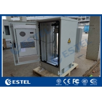 China 27U 19 Inch Rack Outdoor Telecom Cabinet Galvanized Steel Single Wall Heat Insulation wholesale