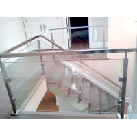 China 304 Stainless Steel 850mm Handrail Glass Balustrade Square Pipe 1mm wholesale