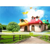 China Wear Resistant Bamboo Fiber Material Mushroom House In Park 300cm X 225cm wholesale