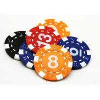 China Multi Color Board Game Accessories / Blue Yellow PS ABS Plastic Poker Chip 40*3.3mm on sale