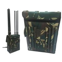 China Wide Band Backpack Mobile Signal Jammer 8 Fiberglass Epoxy Antennas For Military wholesale