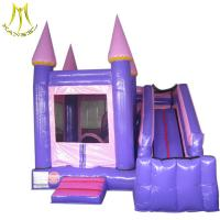 China Hansel  inflatable climbing frame kids house outdoor  trampolines inflatable with slide on sale