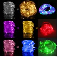 China 12M 100LEDs Solar Rope Tube Led String Strip Fairy Light Outdoor Garden Party Decor Waterproof wholesale