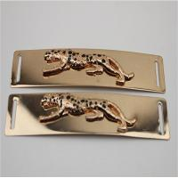 China High Quality Light Gold Shoelaces Accessories Engraved Embossed Leopard Metal Buckle For Shoe wholesale