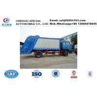 China Factory selling best price Dongfeng 153 6 wheels 190hp diesel 12m3 compact garbage trucks refuse rubbish trash truck on sale