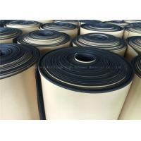 China Black  Rubber Foam Insulating Roll High Density Adhesive 10mm Thermal Resistant wholesale