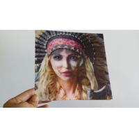 China Lenticular Greeting Card with beautiful girl changes to terrible face,morph effect wholesale