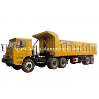 China Rated load 100 tons Off road Mining Dump Truck Tipper  309kW engine power drive multi axles with 50m3 body cargo Volume wholesale