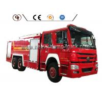 China HOWO 6 By 4 Foam Firefighter Truck wholesale