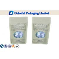 China biodegradable laminated Kraft Paper Stand Up Pouch With Oval Window wholesale
