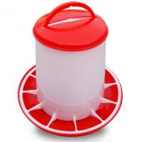 Buy cheap Red and yellow plastic chicken feeder for poultry farm chicken feeder from wholesalers