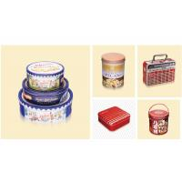 Buy cheap Durable Metal Custom Packaging Boxes Square Chocolate Biscuit Cake Tin Container from wholesalers