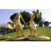 China Celebrity Portrait Metal Human Sculpture , Hand Forged Abstract Human Sculpture wholesale