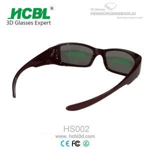 Reusable Circular Coating PC Frame Real D 3D Glasses At Home For Women / Men