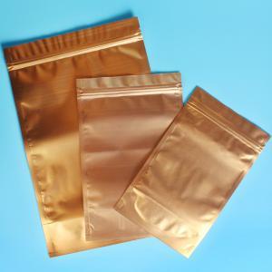 China Plastic Zipper Coffee Packaging Bags , Three Layer Laminated Aluminium Bag For Tea wholesale