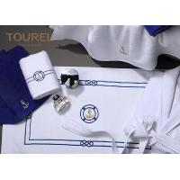 China Cotton Bath Foot Towel For Developing Countries Blue Embroidery wholesale